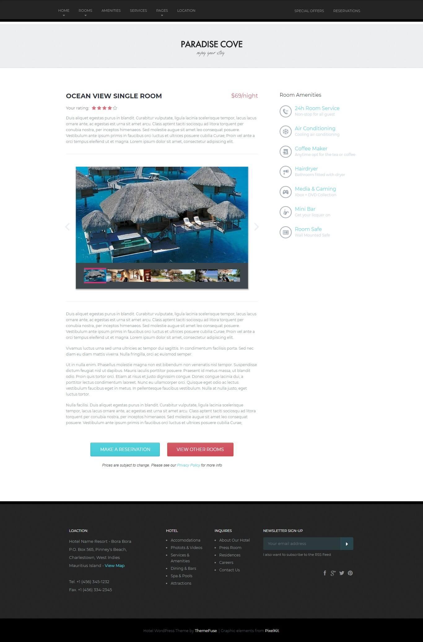 2 از 3  قالب پارادایس کوو | Paradise Cove