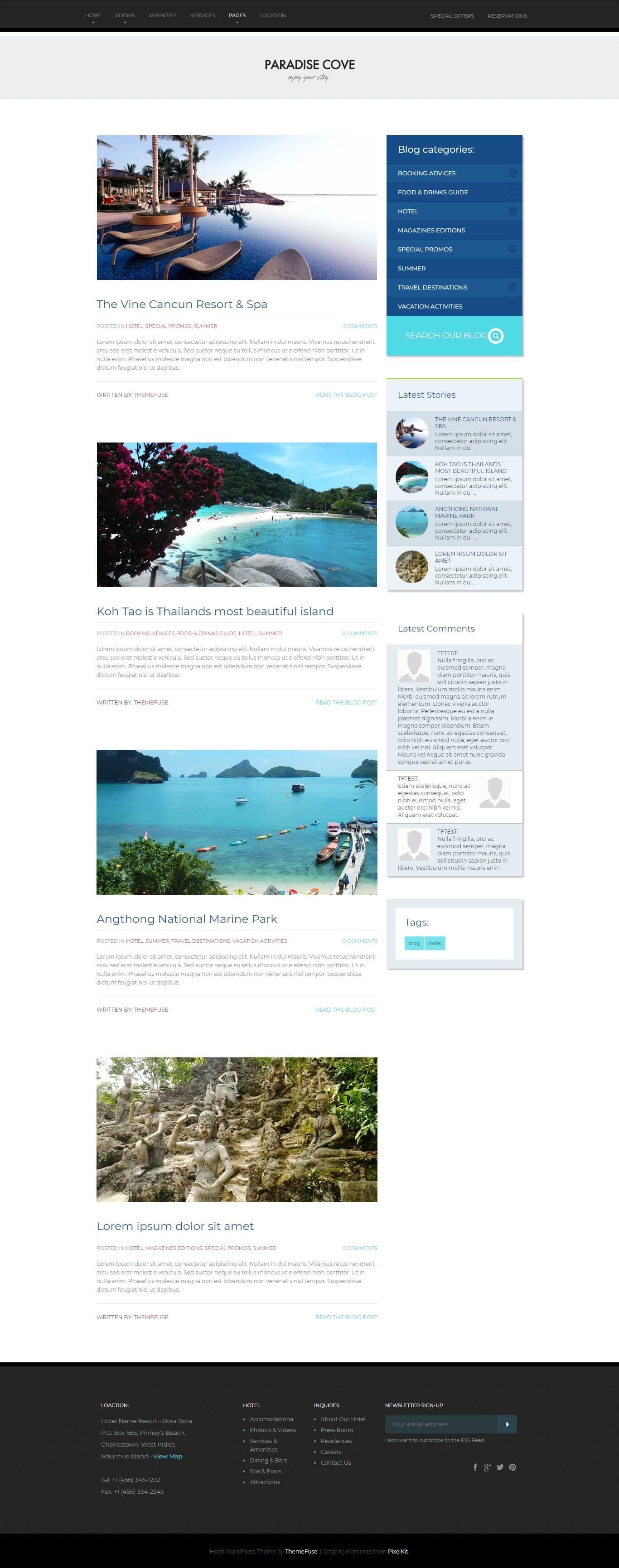 3 از 3  قالب پارادایس کوو | Paradise Cove