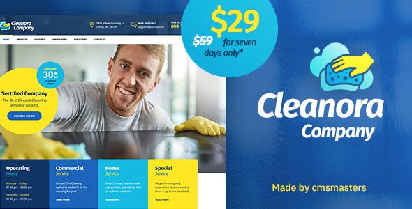Cleanora - قالب خدمات تمیز کاری