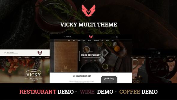 قالب Vicky - قالب رستوران و کافی شاپ وردپرس