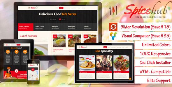 قالب SpiceHub - قالب وردپرس رستوران و کافی شاپ