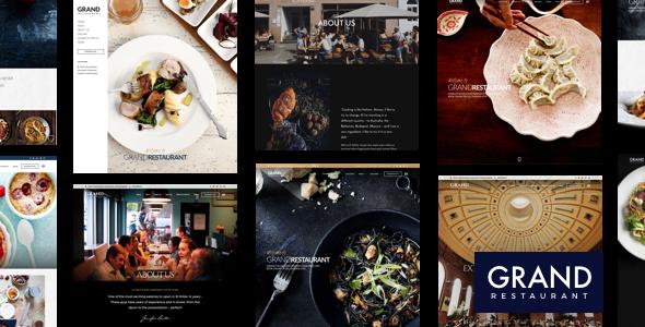 قالب Grand Restaurant - قالب وردپرس رستوران