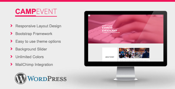 قالب CampEvent - قالب وردپرس کنفرانس و رویداد