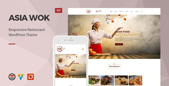 قالب Asia Wok - قالب وردپرس رستوران