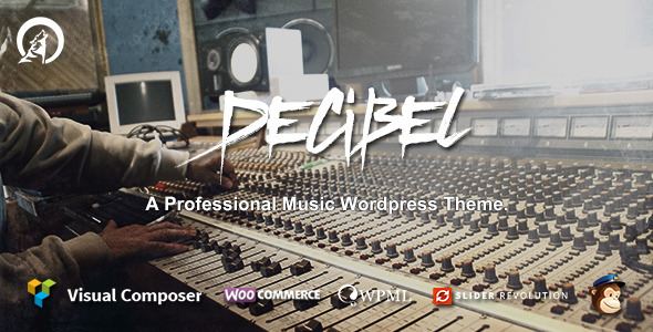 قالب Decibel - قالب سایت موسیقی
