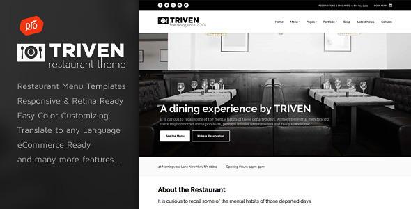 Triven - قالب وردپرس رستوران و نوشیدنی