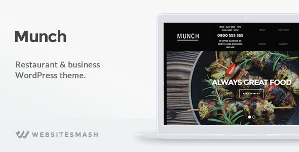قالب Munch - قالب وردپرس رستوران و کسب و کار