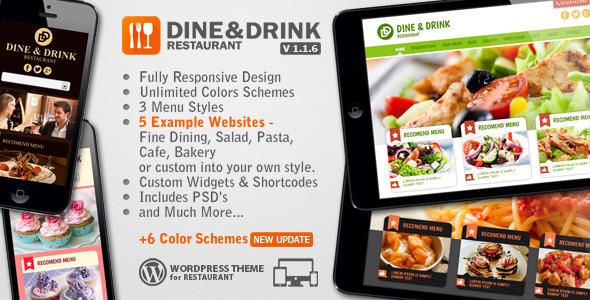 قالب Dine & Drink - قالب وردپرس رستوران