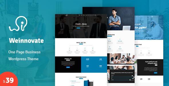 قالب Weinnovate - قالب تک صفحه ای وردپرس کسب و کار