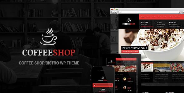 قالب Coffee Shop - قالب وردپرس برای رستوران