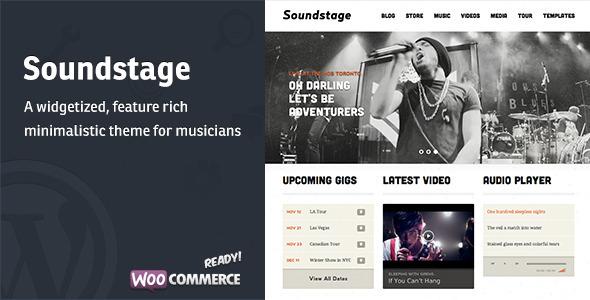 قالب Soundstage - قالب وردپرس برای گروه موسیقی