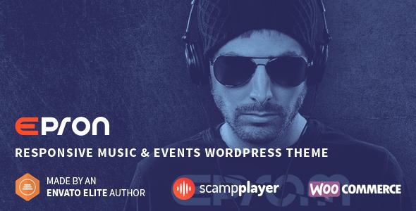قالب Epron - قالب سایت کنسرت