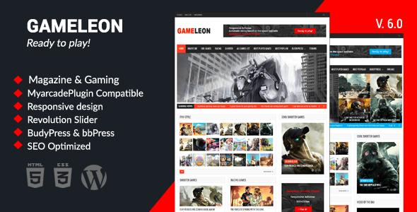 قالب Gameleon - قالب وردپرس مجله و بازی