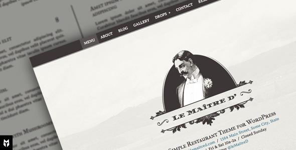 قالب Le Maitre d' - قالب وردپرس برای رستوران
