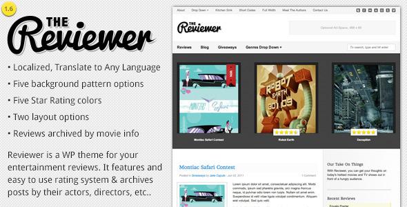 قالب Reviewer - قالب وردپرس سایت نقد و بررسی سرگرمی