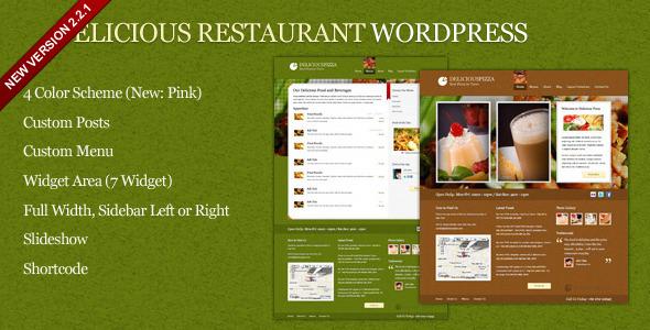 قالب Delicious - قالب وردپرس رستوران