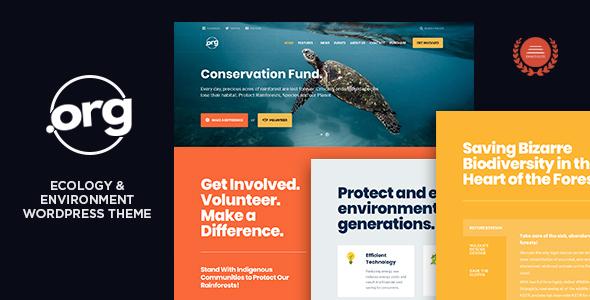 DotOrg - قالب وردپرس محیط زیست و اکولوژی