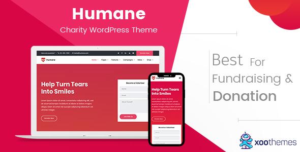 قالب Humane - قالب وردپرس خیریه