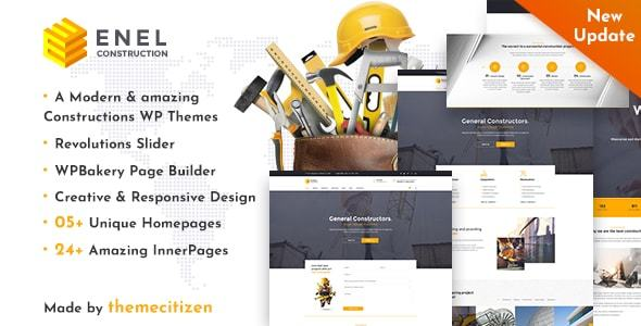 Enel - قالب وردپرس ساخت و ساز ساختمان