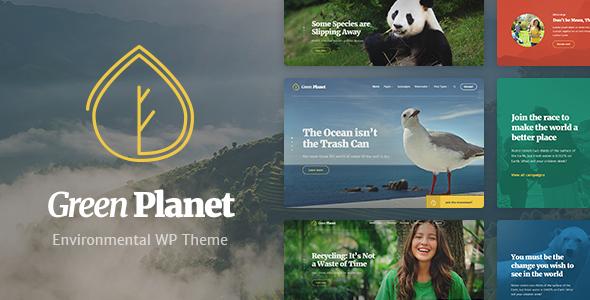 قالب Green Planet - قالب وردپرس اکونومی و و محیط زیست
