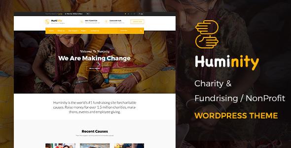 قالب Huminity- Charity - قالب وردپرس جمع آوری وجوه