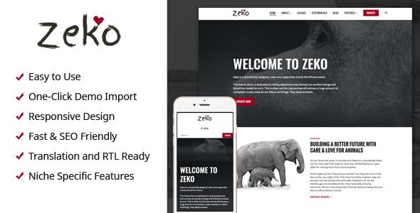 قالب Zeko - قالب وردپرس خیریه