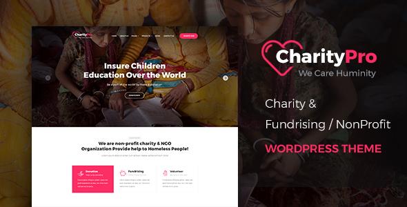 Charity Pro - قالب وردپرس جمع آوری وجوه