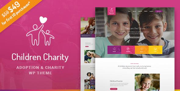 قالب Children Charity - قالب وردپرس شرکت های مردم نهاد NGO