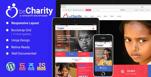 قالب beCharity - قالب خیریه برای وردپرس