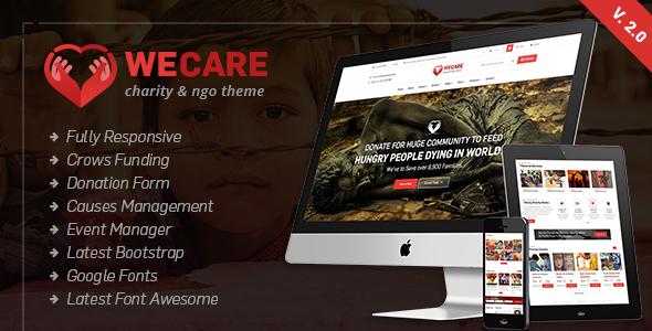 We Care - قالب وردپرس خیریه
