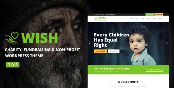 Wish - قالب وردپرس خیریه