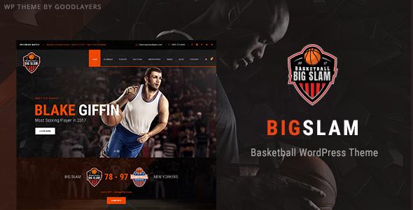 قالب Big Slam - قالب وردپرس بسکتبال