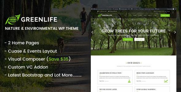 Greenlife - قالب وردپرس طبیعت و محیط زیست