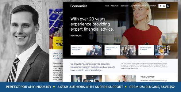 قالب اکونومیست | Economist - قالب وردپرس شرکتی و فروشگاهی