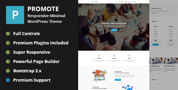قالب Promote - قالب وردپرس دیجیتال مارکتینگ