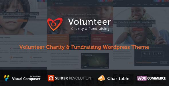 قالب Volunteer - قالب وردپرس خیریه