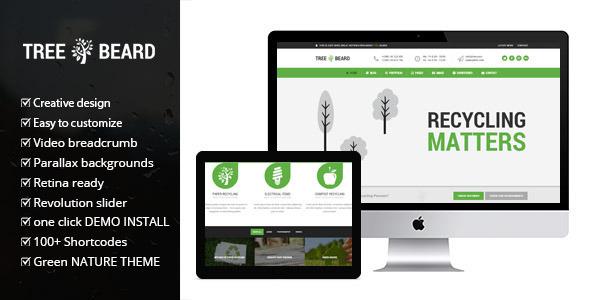قالب TreeBeard - قالب وردپرس محیط زیست