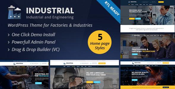 قالب Industrial - قالب وردپرس صنعت و مهندسی