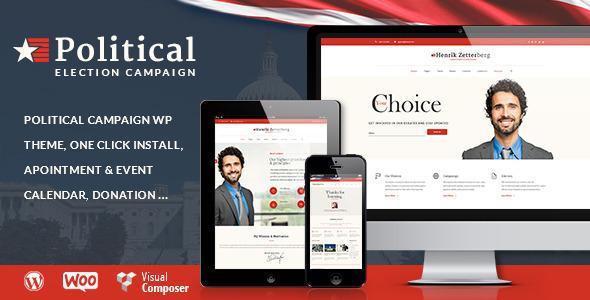 قالب Candidate - قالب وردپرس سایت سیاسی