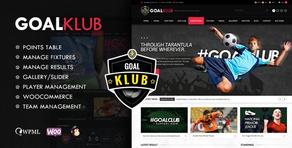 قالب Goal Club - قالب وردپرس ورزشی و رویدادها
