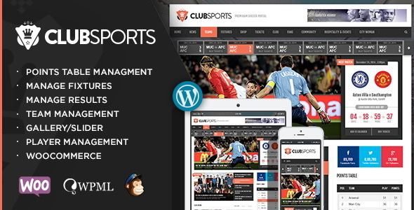 قالب کلاب اسپورتز | Club Sports - قالب وردپرس ورزشی
