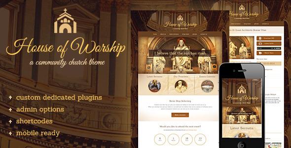 House Of Worship - قالب وردپرس کلیسا
