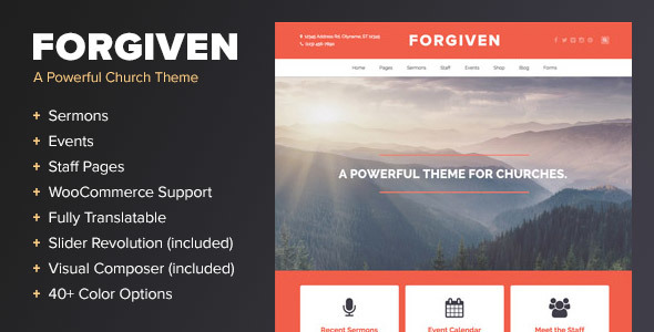 قالب Forgiven - قالب وردپرس برای کلیسا