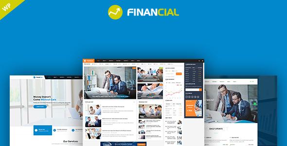 قالب Financial - قالب وردپرس کسب و کار مالی