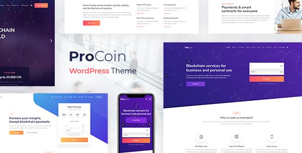 قالب ProCoin - قالب وردپرس ارز دیجیتال