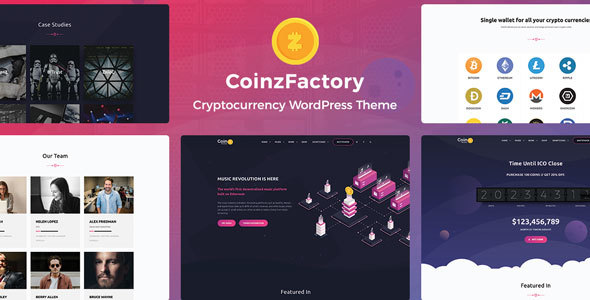 CoinzFactory - قالب وردپرس ارز دیجیتال