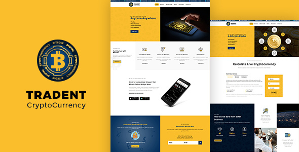 Tradent Cryptocurrency - قالب بیتکوین و ارز دیجیتال