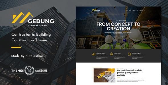 قالب Gedung - قالب وردپرس ساخت و ساز ساختمان