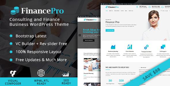 قالب FinancePro - پوسته وردپرس خدمات مالی و مشاوره مالی