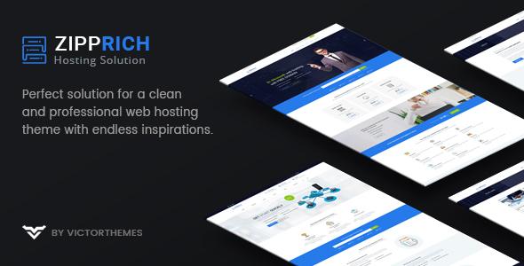Zipprich - قالب وردپرس وب هاستینگ و WHMCS